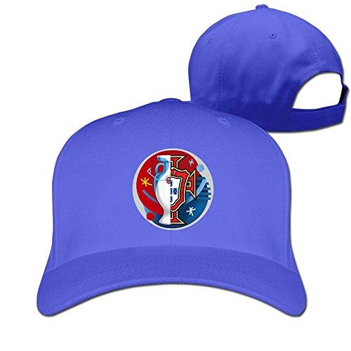 Euro 2016 Champ Portugal Unisex Sunbonnet Peaked Cap Flexfit Hat RoyalBlue (Lego Rc Tank compare prices)