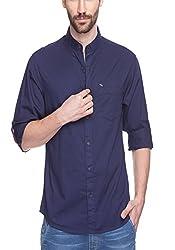 Spykar Mens Blue Slim Fit Shirts