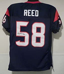 Brooks Reed Autographed Houston Texans Blue size XL Jersey