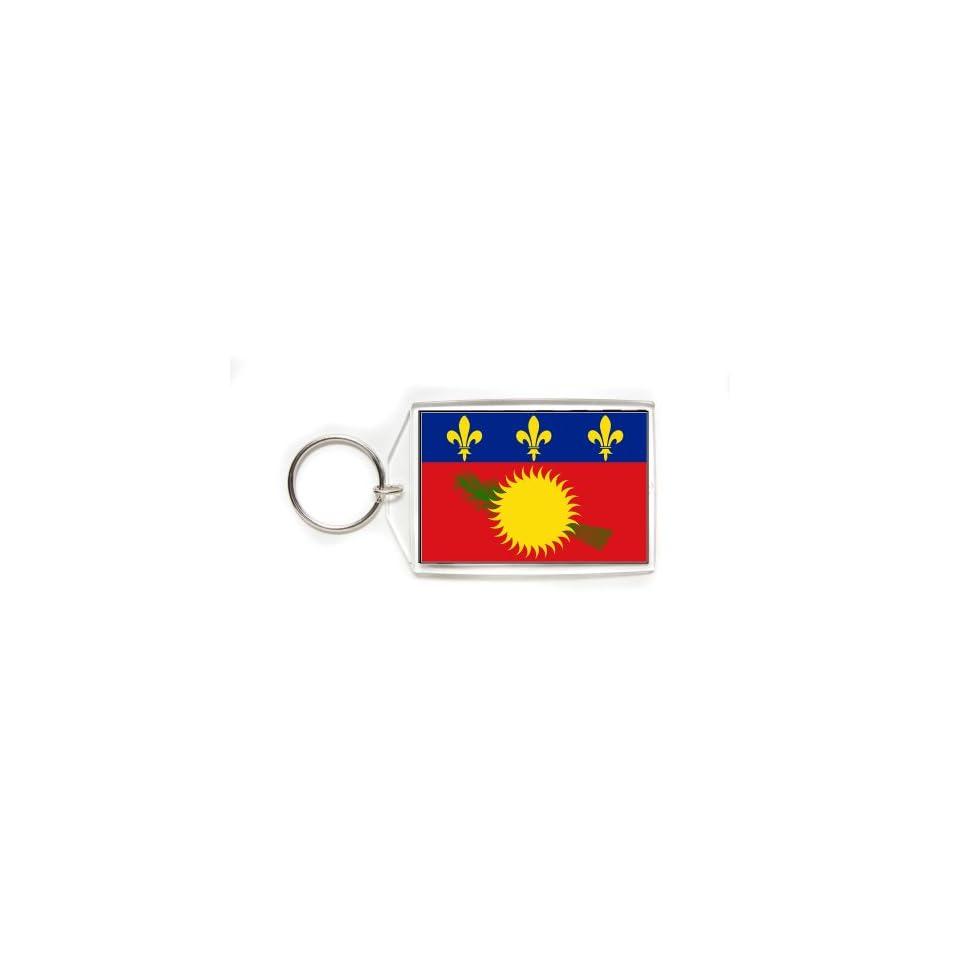 Guadeloupe Guadeloupean Flag Double Sided Acrylic Key Ring