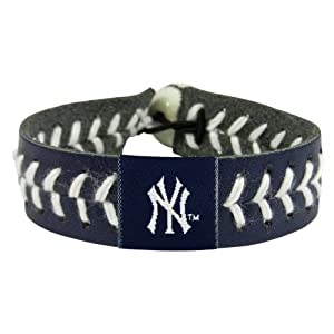 New York Yankees Team Color Baseball Bracelet by GameWear