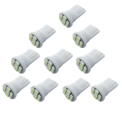 Zitrades 10X Led Car Lights Bulb T10 8-Smd White High Power W5W, 147, 152, 158, 159, 161, 168, 184, 192, 193, 194 2825