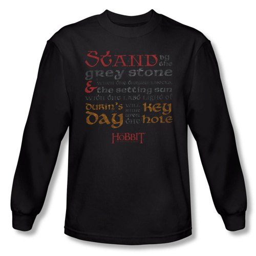 Warner Bros. Men's The Hobbit: The Desolation of Smaug Keyhole Long Sleeve T-Shirt
