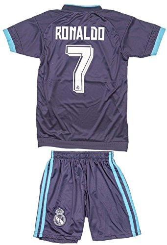 huge selection of 480bb 81b11 2015/2016 Christiano Ronaldo #7 Real Madrid Kids Youth Alternative Blue  Jersey & Shorts (S