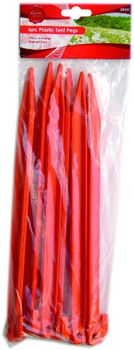 Plastic Tent Pegs Pack Of 6. Heavy Duty And No Rust