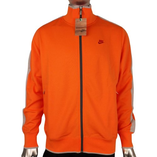 Mens Nike Retro Orange N98 Vintage Track Suit Top Sports Jacket Size XL