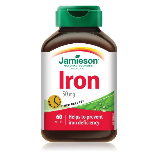 Jamieson Iron 50 Mg - Timed Release - Helps To Prevent Iron Deficiency