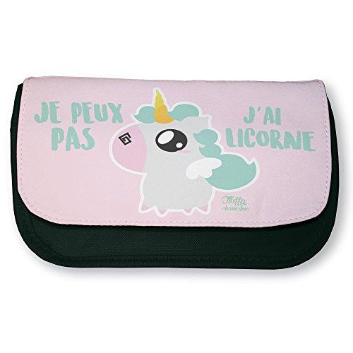 Trousse-noire-de-maquillage-ou-dcole-Je-peux-pas-jai-licorne-Pastel-Chibi-et-Kawaii-by-Fluffy-chamalow-Fabriqu-en-France-Licence-officielle-Chamalow-shop