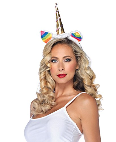 Leg Avenue A1962 Rainbow Unicorn Headband - One Size - Multicolor