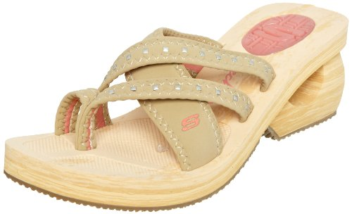 Skechers USA Women's Cyclers Gleamers Natural Mules 38008 7 UK,US 10