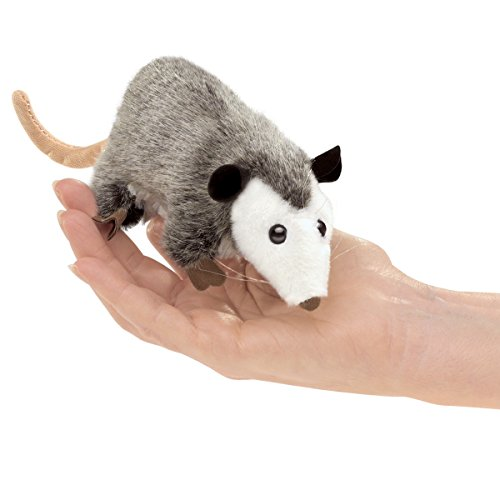 Folkmanis Mini Opossum Finger Puppet Plush