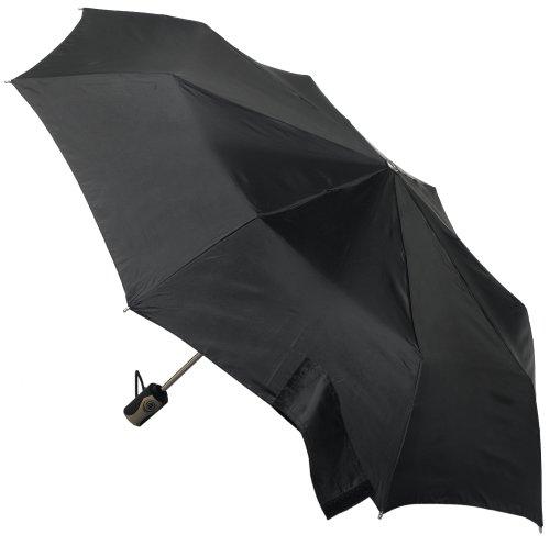 Totes Titanium Auto-Open/Close Umbrella, Black