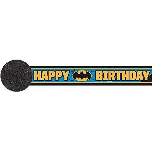 Amscan Awesome Batman Crepe Streamer (1 Piece), Black/Blue, 30' - 1