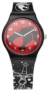 Thundercats 26233 - Reloj analógico de cuarzo para niño con correa de plástico, color negro