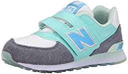 New Balance KL574Y Deep Freeze Pack Classic Running Shoe (Little Kid/Big Kid), Artic Blue/Grey, 2 W US Little Kid