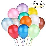 Toy - NUOLUX 100 Luftballons Metallic Latexballons Buntmix 12 30CM [Spielzeug]