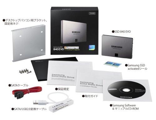 Samsung SSD840EVO デスクトップキット250GB MZ-7TE250K/IT (国内正規代理店 ITGマーケティング取扱い品)