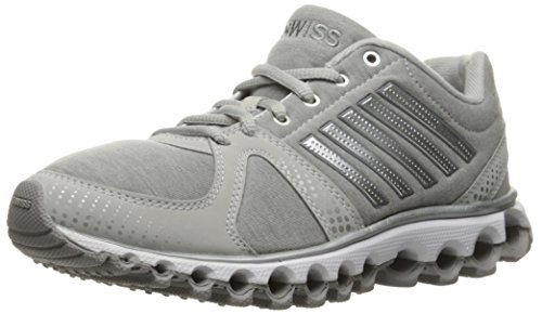 K-Swiss Women's X-160 Heather CMF Cross-Trainer Shoe, Gull Gray/Silver, 7 M US