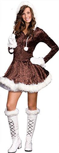uhc-girls-eskimo-cutie-pie-christmas-theme-party-fancy-dress-teen-costume-jr-xs-0-2