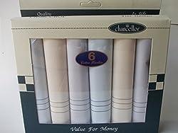 Chancellor Men's Handkerchief, Pack of 6 pc (Pastel Colours)