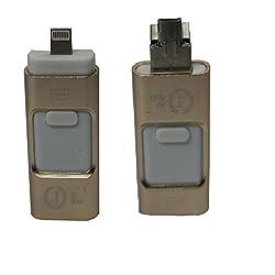 Jo Jo 8 Pin U Disk USB Flash Drive i-Flash Extend Memory For iOS Apple iPhone ipad ipod 16GB Golden