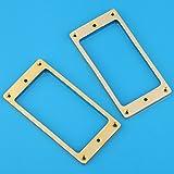 ピックアップリング エスカッション メタル エレキギターハムバッカーピックアップ用/フラットトップ用/ 2mm 2枚セット ゴールド