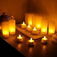 WoneNice Rechargeable Tea Light Teali…