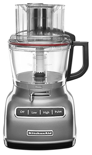 KitchenAid KFP0930CU 9-Cup Food Processor with Exact Slice System and French Fry Disc - Contour Silver