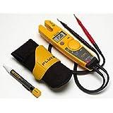 Fluke T5-H5-1AC Kit 3 Piece 1000V USA Electrical Tester, Custom Holster and AC Voltage Detector Kit