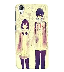 Fuson Love Couple Back Case Cover for HTC DESIRE 626 - D3686