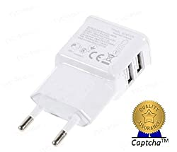 Lenovo K3 Note60 and other USB Devices FAST Charging 2.4 Amp Genuine Output Compatible Certified Charger 2-USB Ports (Use Two Ports at the same time) USB Adapter