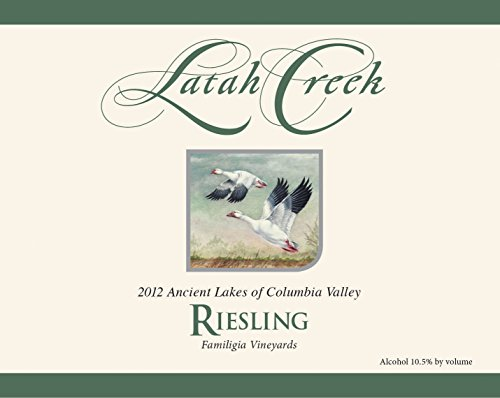 2012 Latah Creek Winery Ancient Lakes Riesling 750 Ml