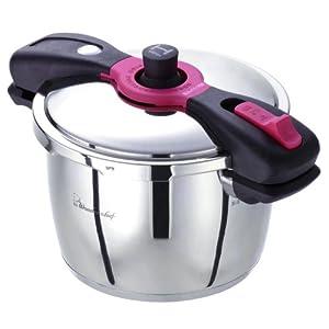 ワンダーシェフ 魔法のクイック料理 両手圧力鍋 5.5L 【蒸しす・浜田陽子の作りたくなる圧力鍋レシピ80(レシピ本)付き】 AQDA55