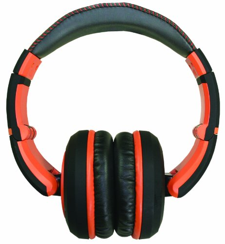 The Sessions Professional Closed-Back Studio Headphones By Cad Audio - Black With Orange