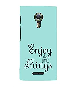 EPICCASE Enjoy the little things Mobile Back Case Cover For Alcatel One Touch Flash 2 (Designer Case)