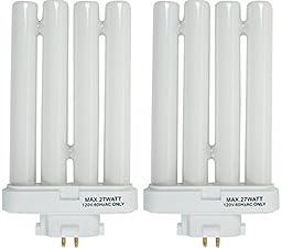 Generic FML27/65 27 Quad Tube Compact Fluorescent Light Bulb - 2 Pack