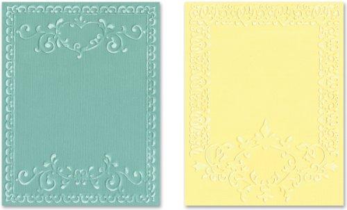 Sizzix Textured impressioni goffratura cartelle 2/Pkg-ornato frame Set