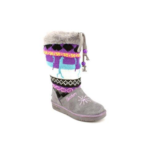 Skechers Kids Grey/Multi Twinkle Toes Glamslam Girls 11.0 Us Toddler front-1040794