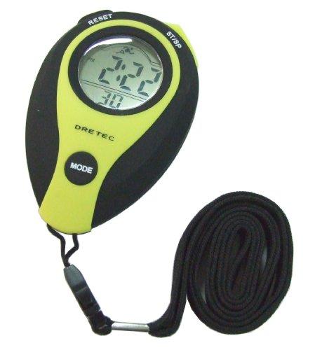DRETEC (ドリテック) large screen display 1 / 100 sec stopwatch yellow SW-111YE