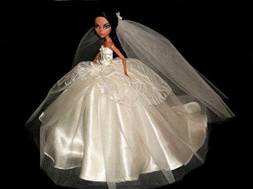 Ivory Wedding Dress For Monster High Dolls