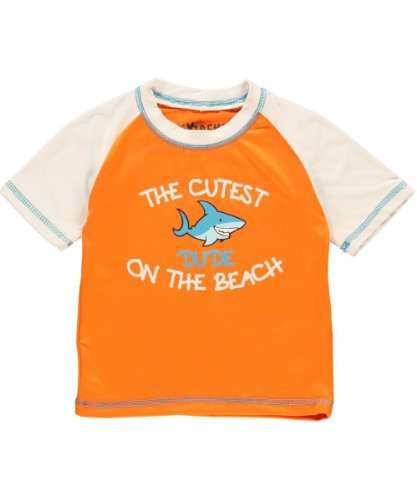 Ixtreme Baby-Boys Infant Cutest On The Beach, Orange, 12 Months front-1047414