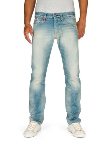 Replay Herren Straight Leg Jeans Waitom, Gr. W33/ L36 (Herstellergröße: 33), Blau (Blue Denim) thumbnail