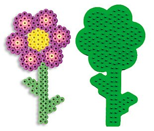 Flower Pegboard for Perler Fuse Beads