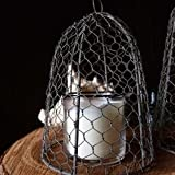 Medium Chicken Wire Cloche, 7 x 10.75 inches, Vintage, Rustic, METAL