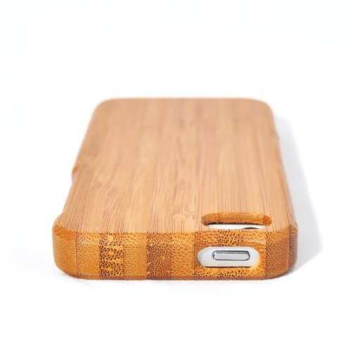 Natural Handmade hard wood Bamboo Case Cover for iphone 5 with free screen protector