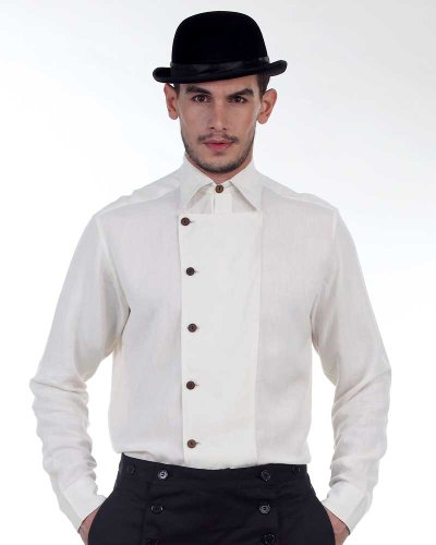 Steampunk Victorian Costume Ulysses Side-Button Shirt