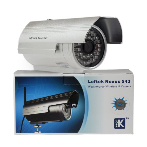 LOFTEK® Nexus 543 Outdoor Wireless/wired Waterproof IP Camera 4mm Lens 36 Infrared LEDs with Night Vision. Silver