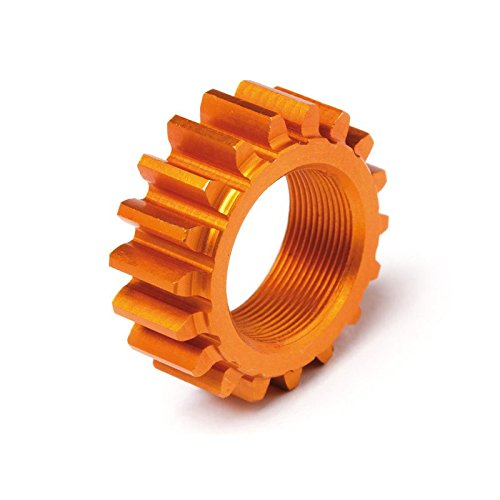 HPI 106630 Threaded Pinion 18Tx12mm 1M Orange - 1