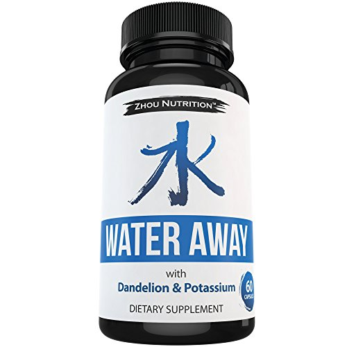 Water-Away-Herbal-Diuretic-to-Promote-Healthy-Water-Balance-Weight-Loss-Premium-Herbal-Blend-with-Green-Tea-Dandelion-Potassium-More-60-capsules-Manufactured-in-the-USA