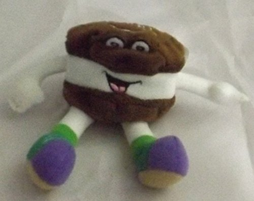 Dairy Queen Advertising Figural Ice Cream Sandwich Plush Bean Bag Toy - 1